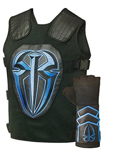 Roman Reigns Tactical Replica Vest Superman Punch Glove Costume-Blue,One Size,Blue