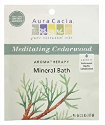 Aura Cacia Aromatherapy Mineral Bath, Meditating Cedarwood, 2.5 Ounce (Pack of 6)