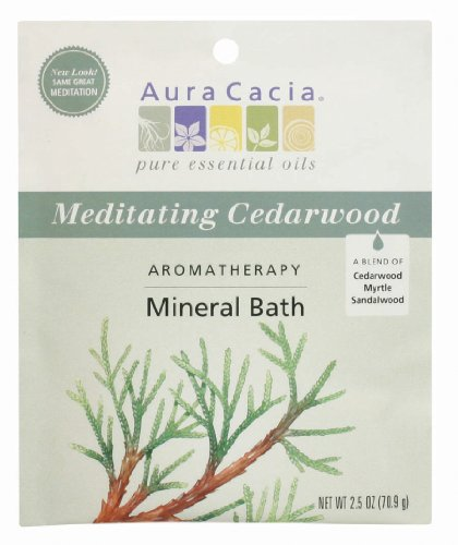 Aura Cacia Aromatherapy Mineral Bath, Meditating Cedarwood, 2.5 Ounce (Pack of - Ounce Bath 2.5