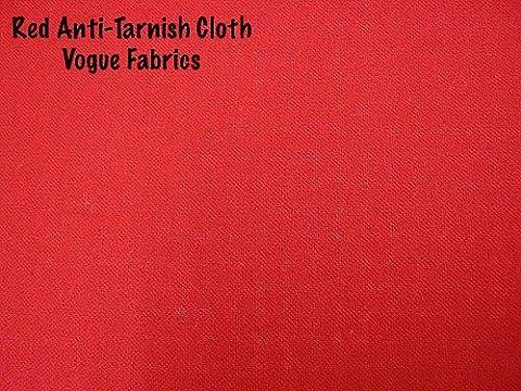 Anti-Tarnish Silver Cloth - Red - Tarnish Proof