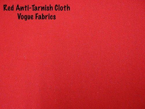Anti-Tarnish Silver Cloth - Red