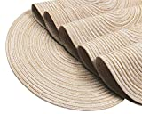 SHACOS Round Braided Placemats Set of 4 Round Table