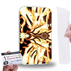 Case88 [Samsung Galaxy Grand Duos i9082 i9080] Gel TPU Carcasa/Funda & Tarjeta de garantía - Naruto Naruto Nine-Tailed Beast Mode 0024