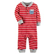 Carter's Baby Boys' Long Sleeve Striped Jumpsuit 6 Months