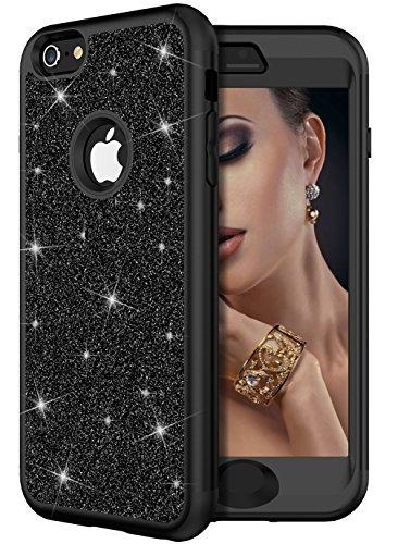 iPhone 6 Plus Case,iPhone 6s Plus Case, WORLDMOM 3 in 1 Glitter Sparkle Bling Heavy Duty Hybrid Sturdy Armor Defender Shockproof Protective Cover Case for iPhone 6 Plus/iPhone 6s -