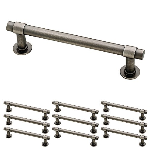 "Franklin Brass P29617K-904-B Straight Bar Pull, 4"" (102mm), Gunmetal, 10 Piece"