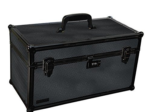 Vaultz Locking Range Box with Tether, 10 x 10.75 x 19.75 Inches, Tactical Black (VZ03493)