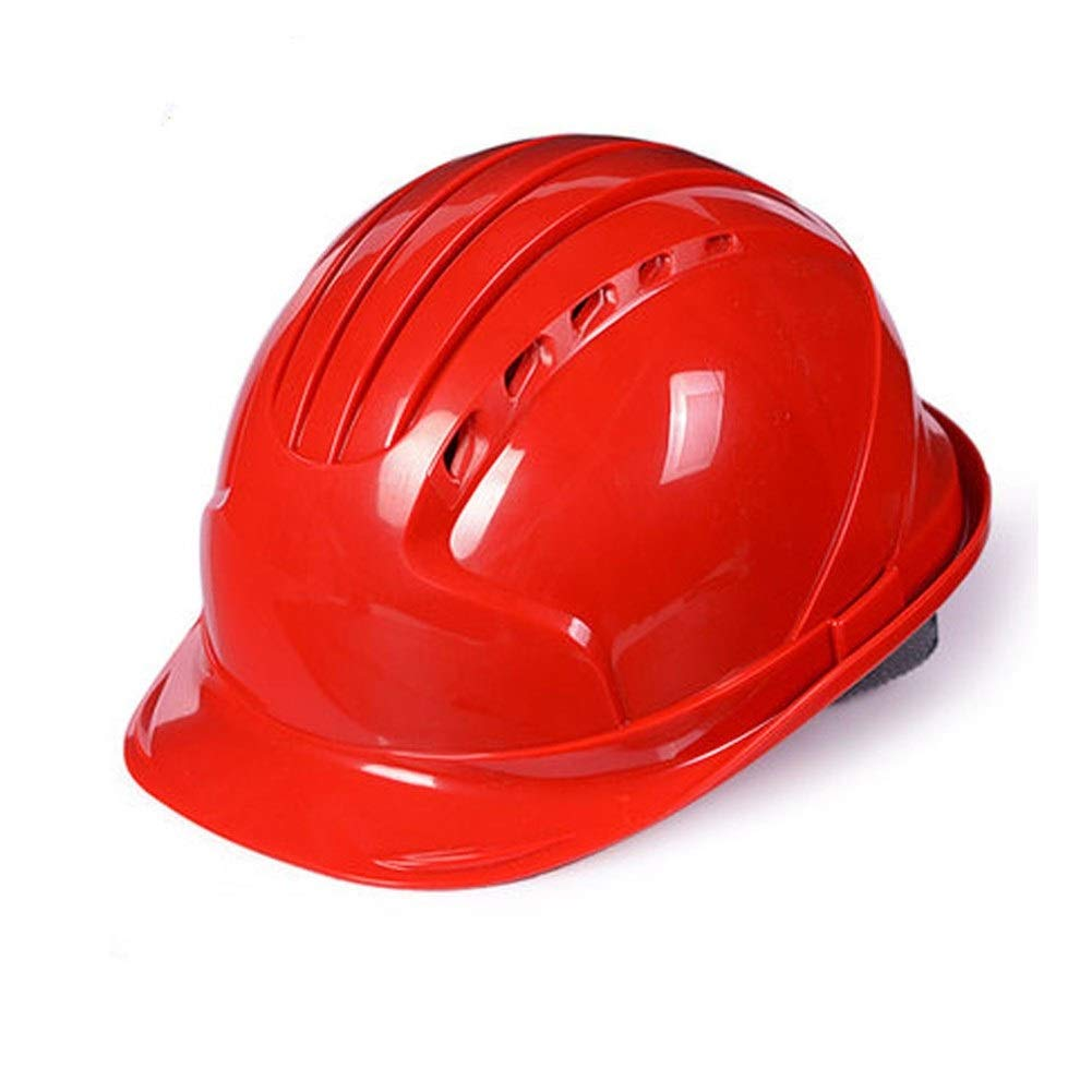 FEI JI Hard Hats - Personal Protective Equipment, For Construction,Home Improvement And DIY Projects/PP''Keep Cool'' Ventilated Helmet, Fully Adjustable, Cap Style, Safety Accessories (Color : A)