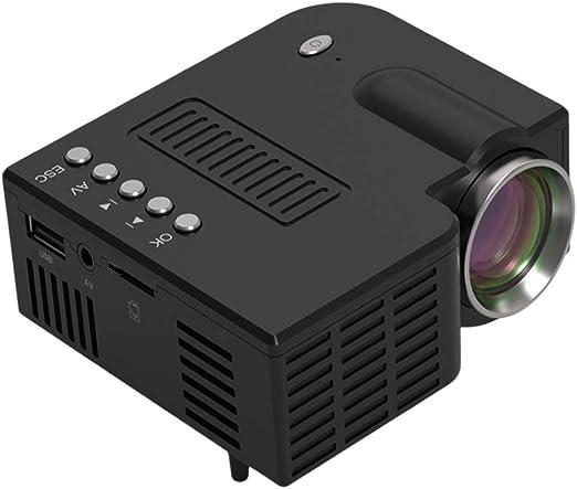 Spachy Mini Proyector de Vídeo Móvil Portátil Proyector de ...