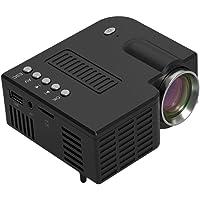 Bever0 - Proyector portátil, mini proyector de cine en casa con 20.000 horas de vida de lámpara LED, Full HD 1080P, compatible con TV PS4, HDMI, VGA, TF, AV y USB, Negro, free size, 1