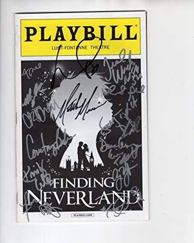 FINDING NEVERLAND AUTOGRAPHED NYC PLAYBILL+COA MATTHEW MORRISON
