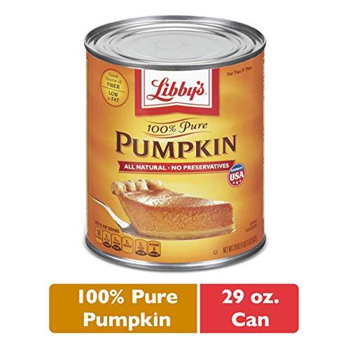 Nestle LIBBY'S 100% Pure Canned Pumpkin Puree, 29 oz. Can (Libbys Pumpkin Bread Recipe With Canned Pumpkin)