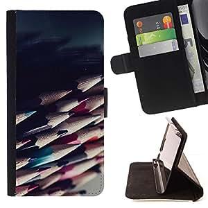 Momo Phone Case / Flip Funda de Cuero Case Cover - Lápices de Sharp ilustraciones Sombra Dibujo - Sony Xperia Z1 L39