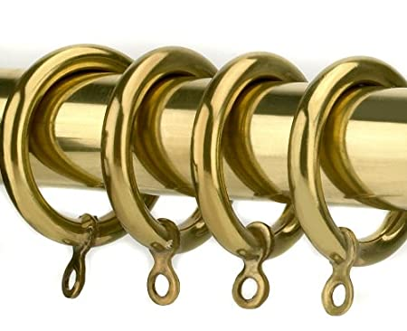 Polished Brass Curtain Rings