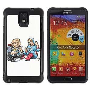 LASTONE PHONE CASE / Suave Silicona Caso Carcasa de Caucho Funda para Samsung Note 3 / Drawing Art Kids Food Street Style Blonde