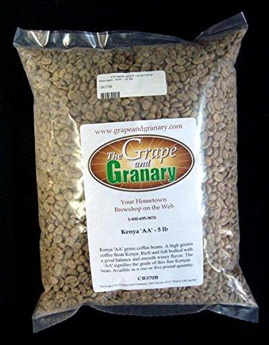 Kenya AA unroasted Coffee Beans (5LB)