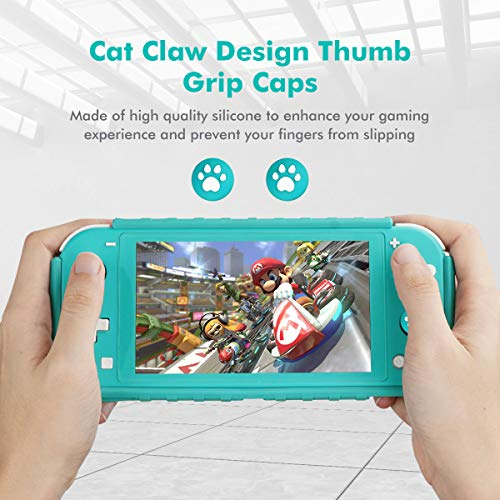 KIWIHOME Grip Case for Nintendo Switch Lite, TPU Portable Cover Case for Nintendo Switch Lite Console with Comfortable Grip & Game Card Slots