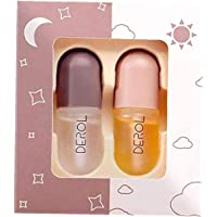 Lip Plumper Set 5 5ML Mini Natural Lip Care Serum Mouth Enhancer Plumper Gloss for Fuller Softer Hydrated Mouth 2PCS…