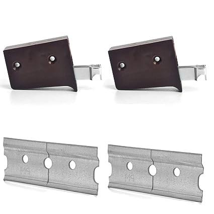 MKGT 2 x Cabinet Suspension Brackets Rail Cupboard White