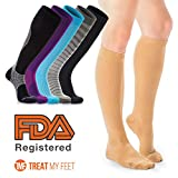 Treat My Feet Beige Compression Socks
