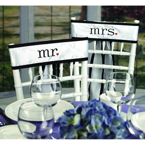 (Together Mr. & Mrs. Chair Sashes )