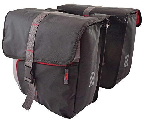 Cordo Doppeltasche Santo, Antracit/Rot, 34 x 13 x 38 cm, 35 Liter, 412359