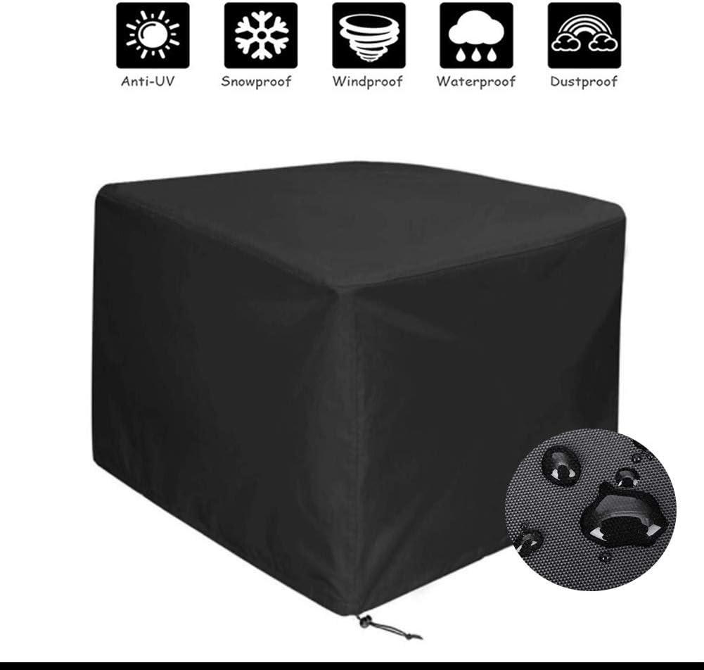 WYUKUAN ガーデン家具カバー屋外パティオダイニングテーブル防水矩形丈夫オックスフォード布抗UV 、32サイズ (Color : Black, Size : 315×160×74cm)