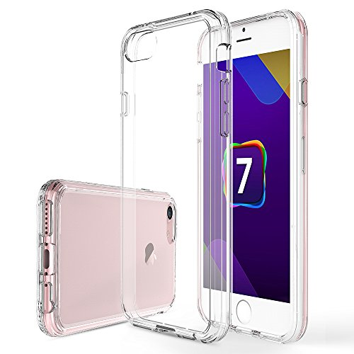 Apple iPhone 7 Coque, iBetter Double couche Shock Absorbing TPU Bumper avec Hard Shell Back case for Apple iPhone 7, Transparent