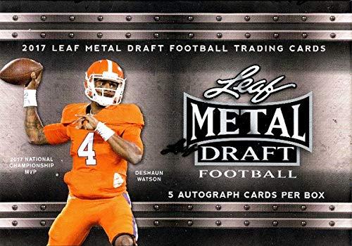 Leaf 2017 Metal Draft Football Hobby Box ()