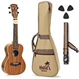 Image of Hola! Music HM-127MG+ Deluxe Mahogany Tenor Ukulele Bundle with Aquila Strings, Padded Gig Bag, Strap and Picks