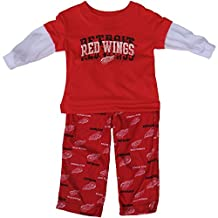 Detroit Red Wings Preschool Long Sleeve Layered T-Shirt & Pant Sleepwear Set
