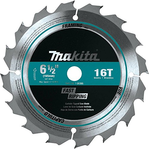 Makita T-01395 16T Carbide-Tipped Saw Blade, General Contractor, 6-1/2
