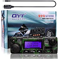 NKTECH QYT KT-8900 Dual Band 25W VHF 136-174MHz 20W UHF 400-480MHz 5Tone 2Tone Mini Car/Trunk Ham Mobile Transceiver Two Way Radio Walkie Talkie Camouflag and Programming Cable