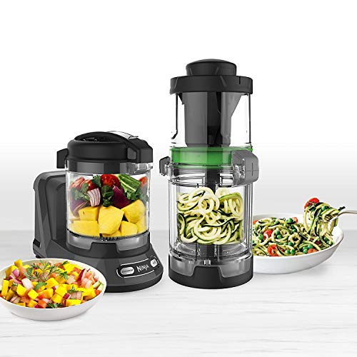 Ninja Food Processor with 400-Watt Base, 32-Ounce Precision Processor Bowl and Spiralizer, NN310Q (Certified Refurbished)