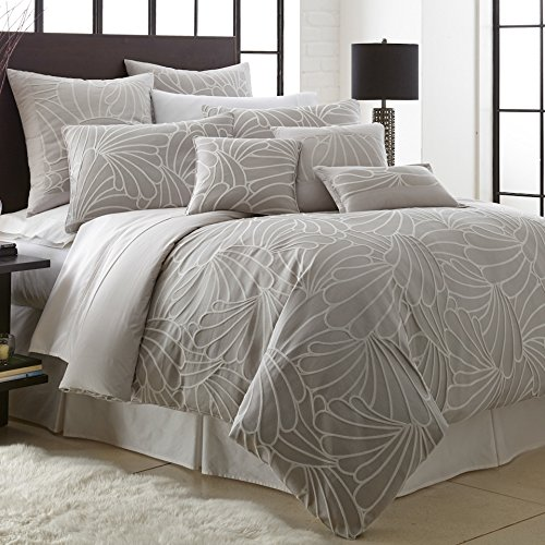 Mandalay Queen (Amrapur 3DVTSHM1-KAT-QN Mandalay Bay Jacquard 3 Piece Duvet Set Kate Queen)