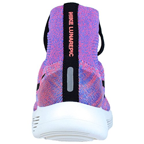 Flyknit De Lunarepic Para Running Hot medium Nike Mujer aluminum Wmns Blue black Punch Zapatillas qxfICWERw
