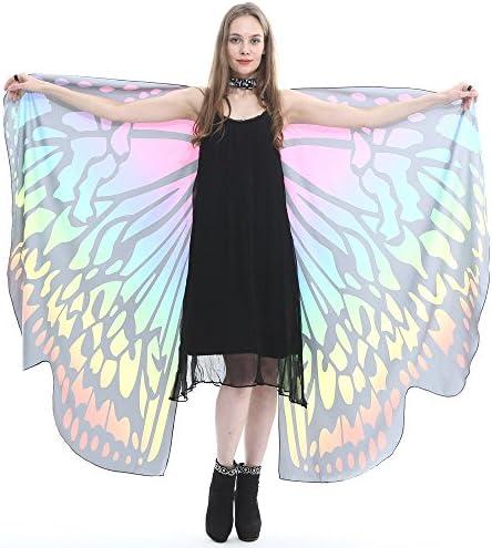 QinMM Disfraz de Cosplay para Mujer Chal de alas de Mariposa de ...