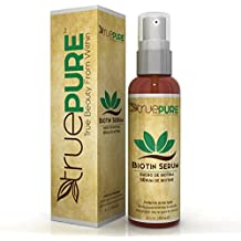 TruePure Biotin Hair Growth Serum - Hair Loss Prevention Treatement For Men & Women With Fine, Thinning Hair - Fragrance Free & Sulfate Free DHT Blocking Hair Care Formula, 2oz
