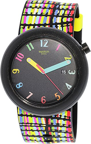 Swatch Watch - Swatch New POP Crazypop Black Dial Silicone Strap Unisex Watch PNB400