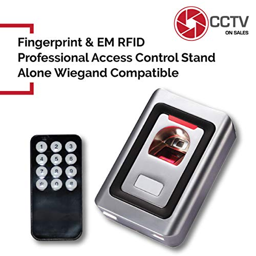 - Access Control Biometric Fingerprint & RFID Card Reader Indoor Metal Shell, 3000 User Capacity, Infrared Remote Control and Master Cards for Programming Included Anti Vandal Standalone/Wiegand 26 Bits