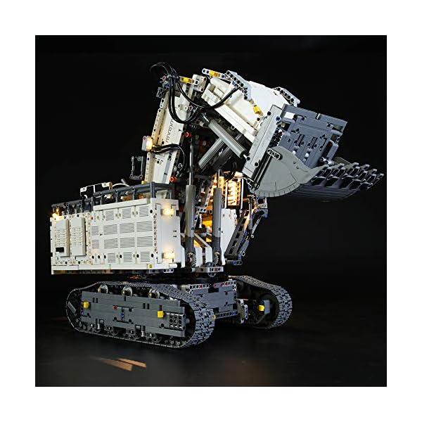 LIGHTAILING Set di Luci per (Technic Power Functions Escavatore Liebherr R 9800) Modello da Costruire - Kit Luce LED… 2 spesavip