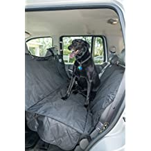 2PET Backseat Cover Quilted Deluxe by Dog Seat Cover for Cars, Trucks and SUV - Secure Fit and Velcro Opening for Seatbelts - Waterproof, Protects from Dust, Hair, Dirt and Water - Black