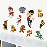 3D Waterproof Paw Patrol Dog Wall Sticker Kids Cartoon Mural Decals Room Decor