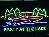 High Quality Party At The Lake Handcrafted Design Decorate Real Glass Tube Beer Bar Pub Neon Light Sign 24''x20''P10