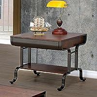 Furniture of America CM4452E Newbridge Antique Oak End Table Side/Nesting