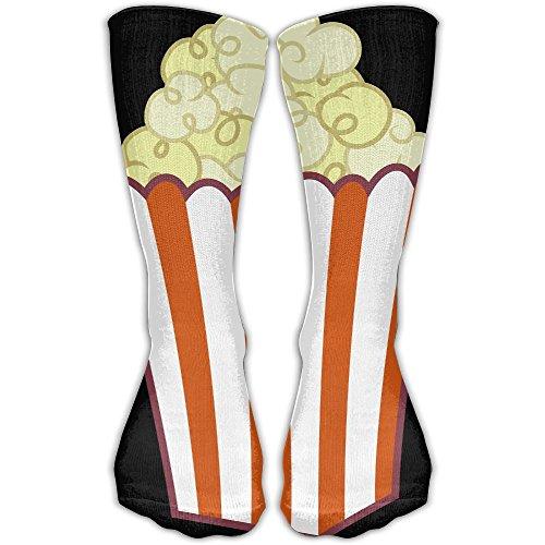Sport Tube Stockings Popcorn Art Women & Men Knee High Long Soccer Socks