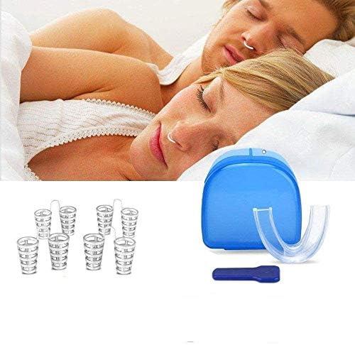 PHS Premium Schnarchstopper Schnarchschutz Anti Schnarch 4 Paare Nasendilatator plus One Size Blue+