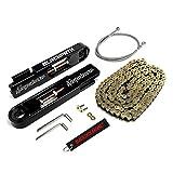 #6: BlackPath - 2008-2014 Suzuki Swingarm Extension + SS Brake Line + Chain Kit GSX-R 1300 Hayabusa (Gold) T6 Billet