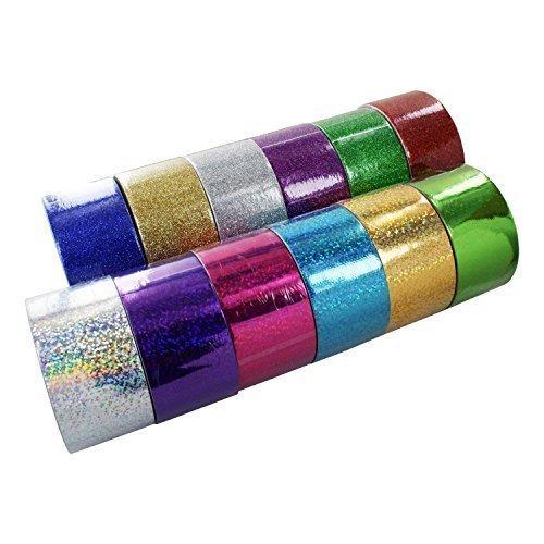 Bazic 1.88 X 3 Yard Holographic & Glitter Duct Tape, Assorte