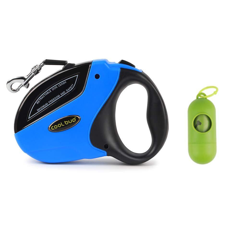 bluee Retractable Dog Leash,Heavy Duty 16 Foot Extended Dog Walking Leash Adjustable with Break and Lock Button-Sturdy Nylon Ribbon Cord,Tangle Free,Suitable for Small,Medium and Large Dogs Up to 110 Lbs